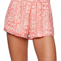 LA Hearts Chiffon Shorts - Womens Short - Multi - Small