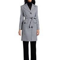 Evan Picone Women's Houndstooth Trench Pant Suit