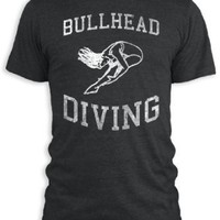 Vintage Distressed Bullhead Diving Tri-Blend T-Shirt