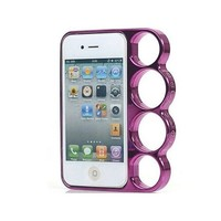 Knuckle Duster iPhone 4 case (Metallic Pink)