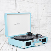 Crosley Mini Cruise Turntable EU Plug in Aqua - Urban Outfitters
