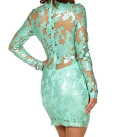 Crystianna- Mint Short Prom Dress