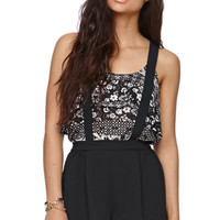 LA Hearts Scalloped Suspender Shorts at PacSun.com