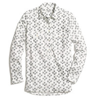 Market Popover in Crosshatch Ikat