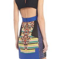 Runway Leo Quilted Color-Blocked Dress