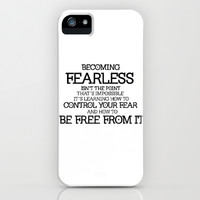 BECOMING FEARLESS - Divergent iPhone & iPod Case by FANDOM FUSION | Society6
