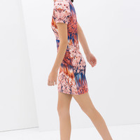NEOPRENE PRINTED DRESS