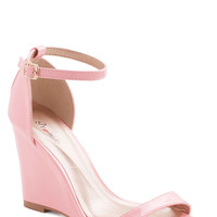 One Suite Day Wedge in Bubblegum | Mod Retro Vintage Heels | ModCloth.com
