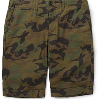 Beams Plus - Slim-Fit Camouflage-Print Cotton Shorts | MR PORTER