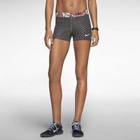 "The Nike Pro 3"" Zigzag Women's Training Shorts."