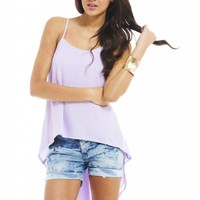 Lilac Waterfall Top