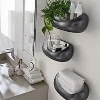 CERAMIC BATHROOM WALL SHELF SASSO | ARDECO