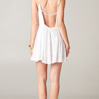 WHITE OPEN BACK BABYDOLL TIERED DRESS | PUBLIK | Women's Clothing & Accessories
