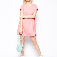 Glamorous Petite Short Sleeve Swing Dress