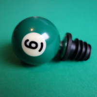 Number 6 Pool/Billiard Ball Wine Bottle Stopper » Craftori