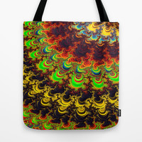 Bright Rainbow Fractal  Tote Bag by OCDesigns_PwinArt