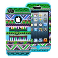 Geometric Print Three Layers Phone Shell Case for Iphone5/5s