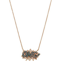 Omg Necklace In 18K Rose Gold And Diamond by Diane Kordas - Moda Operandi