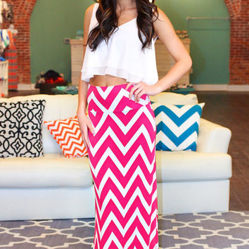 Like A Million Bucks Maxi Skirt - Hot Pink