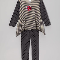 Gray Stripe Tunic & Leggings - Toddler & Girls | something special every day
