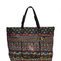 SAKROOTS ARTISTIC CIRCLE TRAVEL BAG IN NEON ONE WORLD