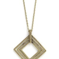 Think Inside the Box Necklace | Mod Retro Vintage Necklaces | ModCloth.com