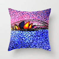 'Sydney Harbour' - pillow by Alan Hogan