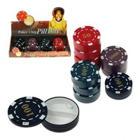 Poker chip pill box