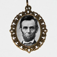 Abraham Lincoln Necklace Oval Pendant