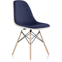 eames® molded side chair upholstered dowel base