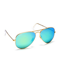 Ray-Ban Aviator Metal Mirrored Sunglasses