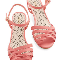 Better Plait than Never Sandal in Pink | Mod Retro Vintage Sandals | ModCloth.com