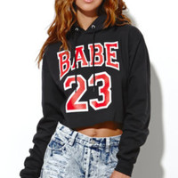 Petals and Peacocks Babe 23 Cropped Hoodie at PacSun.com
