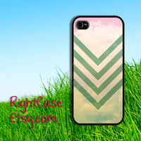 Pastel CHEVRON IPHONE 5S CASE Mint Stripe WaterColor Sky iPhone Case Phone 4S iPhone 5C Case Samsung Galaxy S4 S3 iPhone 5 iPhone 4 Cover