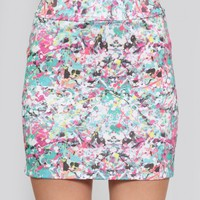 Pollock Bodycon Skirt
