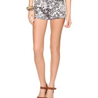 Leopard High Rise Denim Short | FOREVER21 - 2062098070