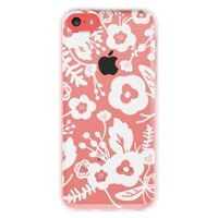 Agent 18 Shockslim-White Flowers Cell Phone Case for iPhone 5/5S - Multicolored (P5CSKS/188)