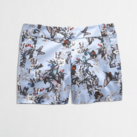 FACTORY SHORT IN BOTANICAL BIRD PRINT