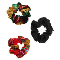 FLORAL HAIR SCRUNCHIE PACK