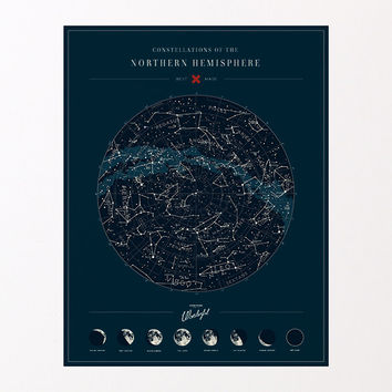 Map of the Constellations - Northern