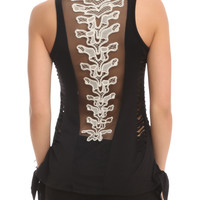 Teenage Runaway White Spine Top