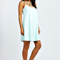 Elizabeth PU Swing Dress