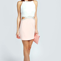 Nadine Embellished Cut Out Detail Bodycon Dress