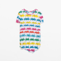 MULTICOLORED PRINT T-SHIRT