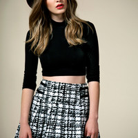 Boutique Tamara Jacquard Pleated Kilt Skirt