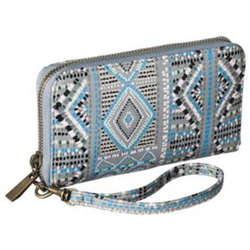 Merona® Printed Phone Case Wallet with Removable Wristlet Strap - Gray