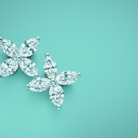 Tiffany & Co. - Tiffany Victoria™ earrings in platinum with diamonds, large.