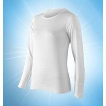 ColdPruf Women`s Authentic Cotton & Merino Wool 2 Layer Long Sleeve Crew # 53A
