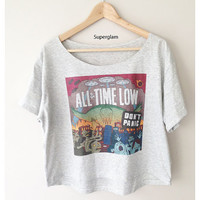 All Time Low Band Pop Punk Women Top Wide Crop Fashion T shirt