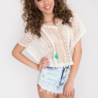 Veronica Lace Crop Top